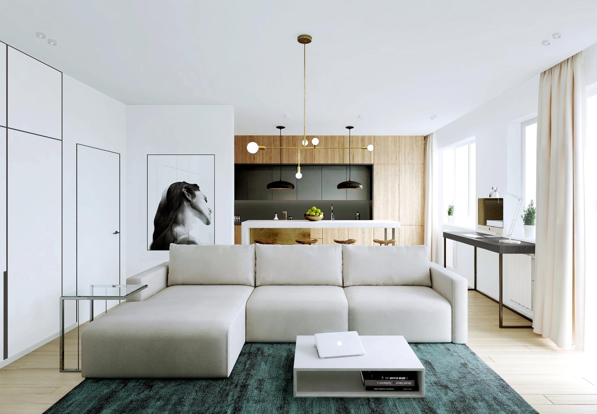 85平简约风公寓客厅装修效果图
