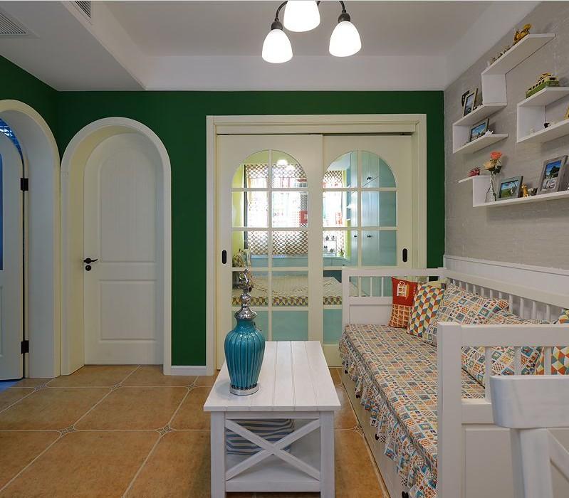 小户型混搭二居装修拱形移门设计图