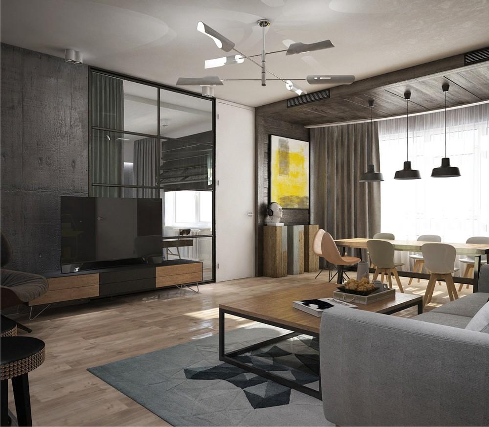 工业风公寓客餐厅装修效果图