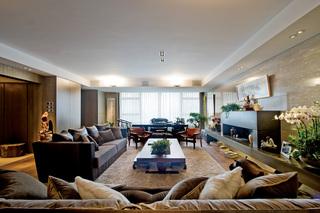 大户型中式风格客厅装修设计图
