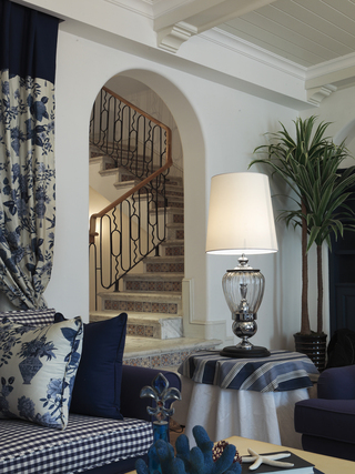 地中海风格别墅楼梯装修效果图