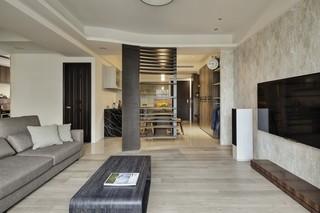 115㎡现代风格客厅装修效果图