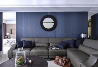 大户型港式风格沙发背景墙装修效果图