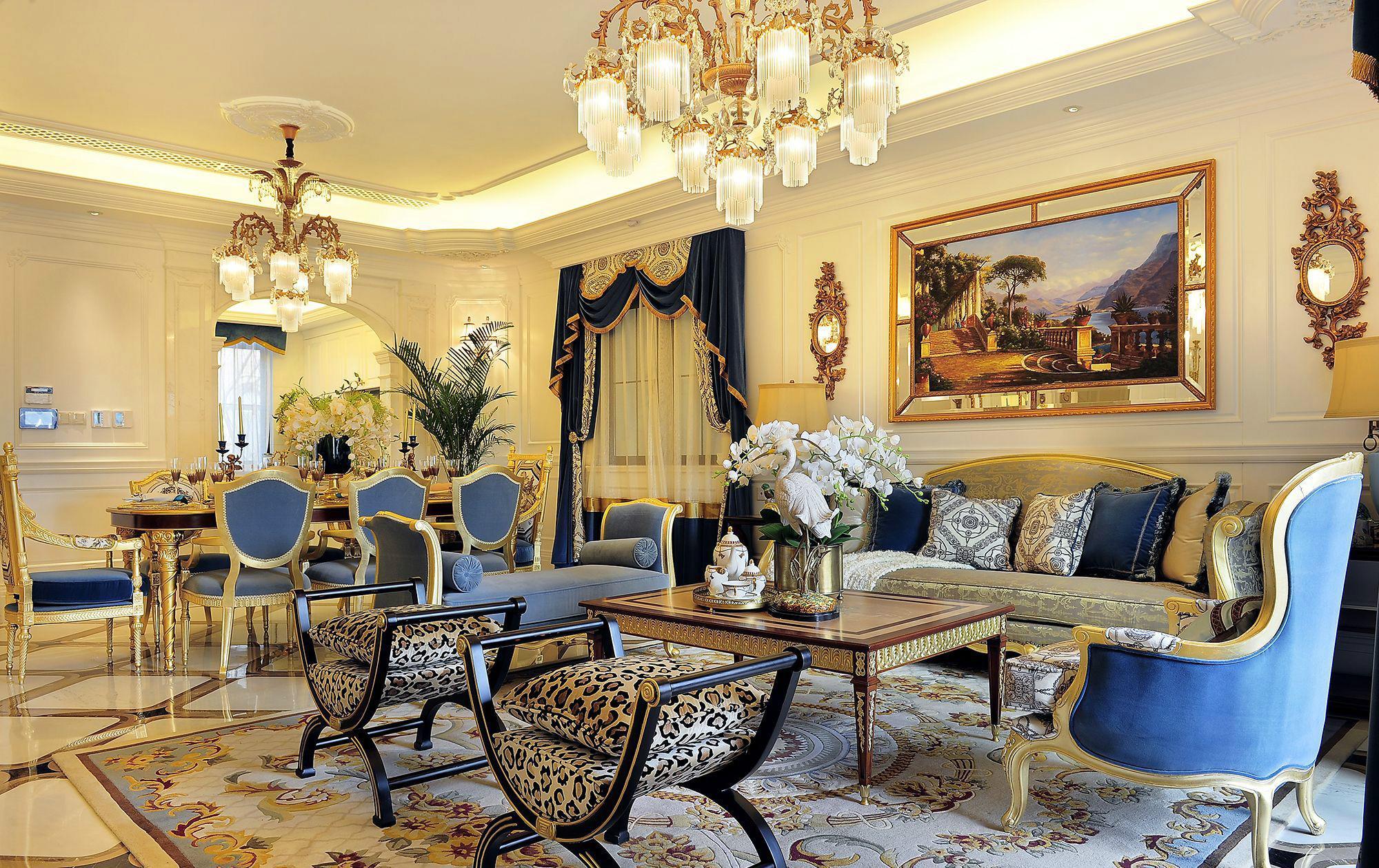 奢华法式风格别墅装修效果图
