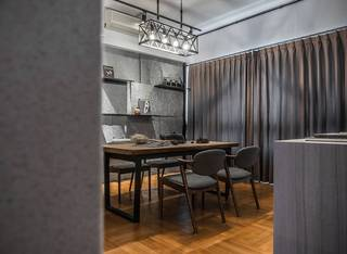 灰色调现代台式风餐厅装修效果图