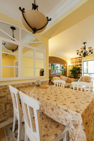 田园风格二居室餐厅装修效果图