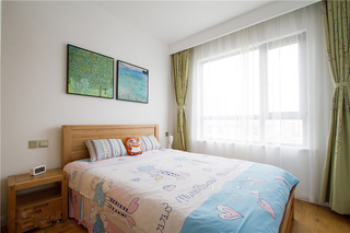 105平日式风格卧室装修搭配图