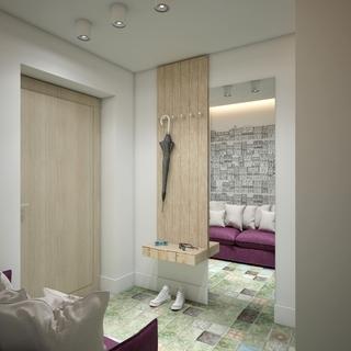 48㎡小户型公寓玄关装修效果图