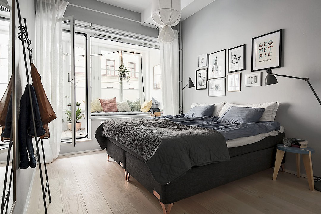 83平北欧风二居卧室装修效果图