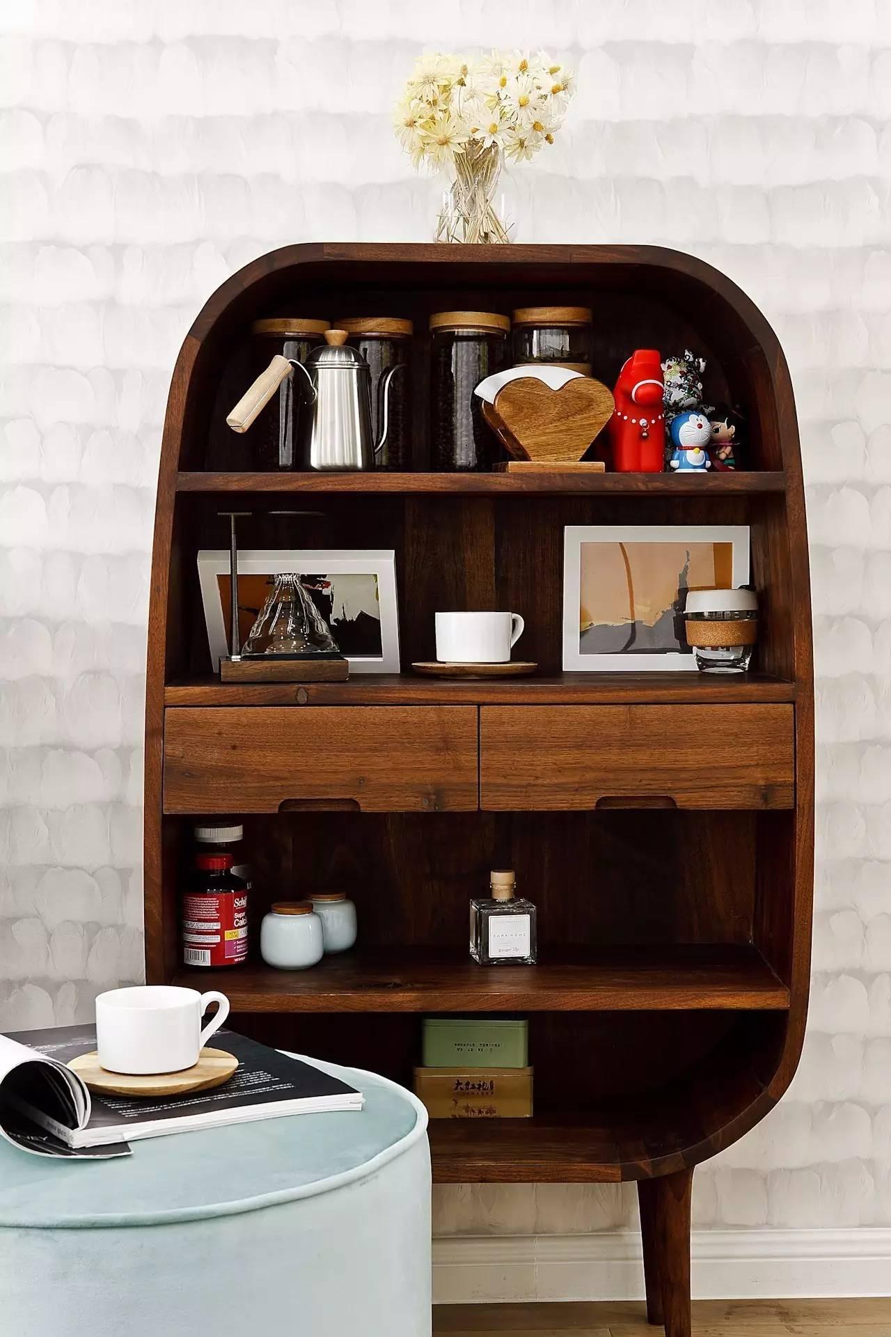 三居室北欧风格装修收纳柜设计图