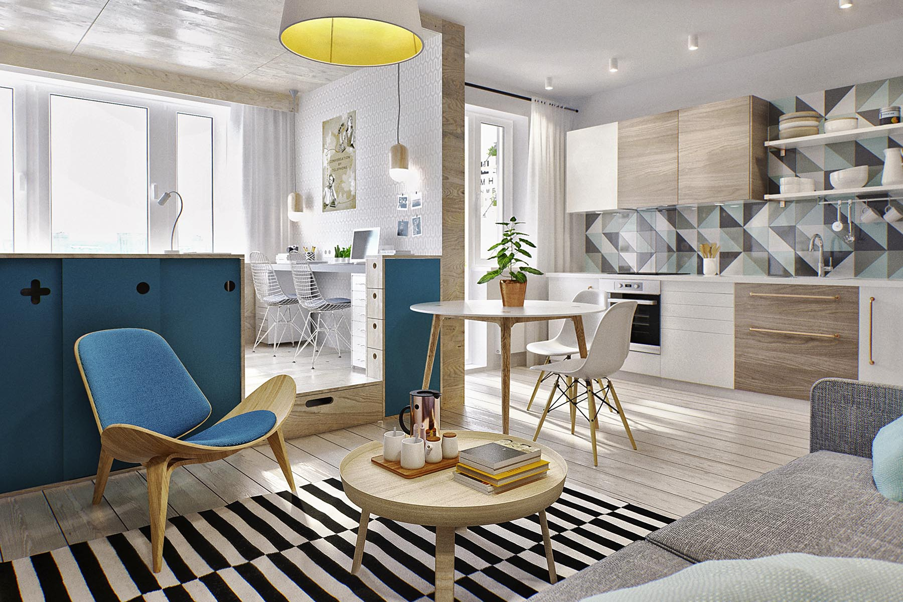 40平小户型公寓客厅装修效果图