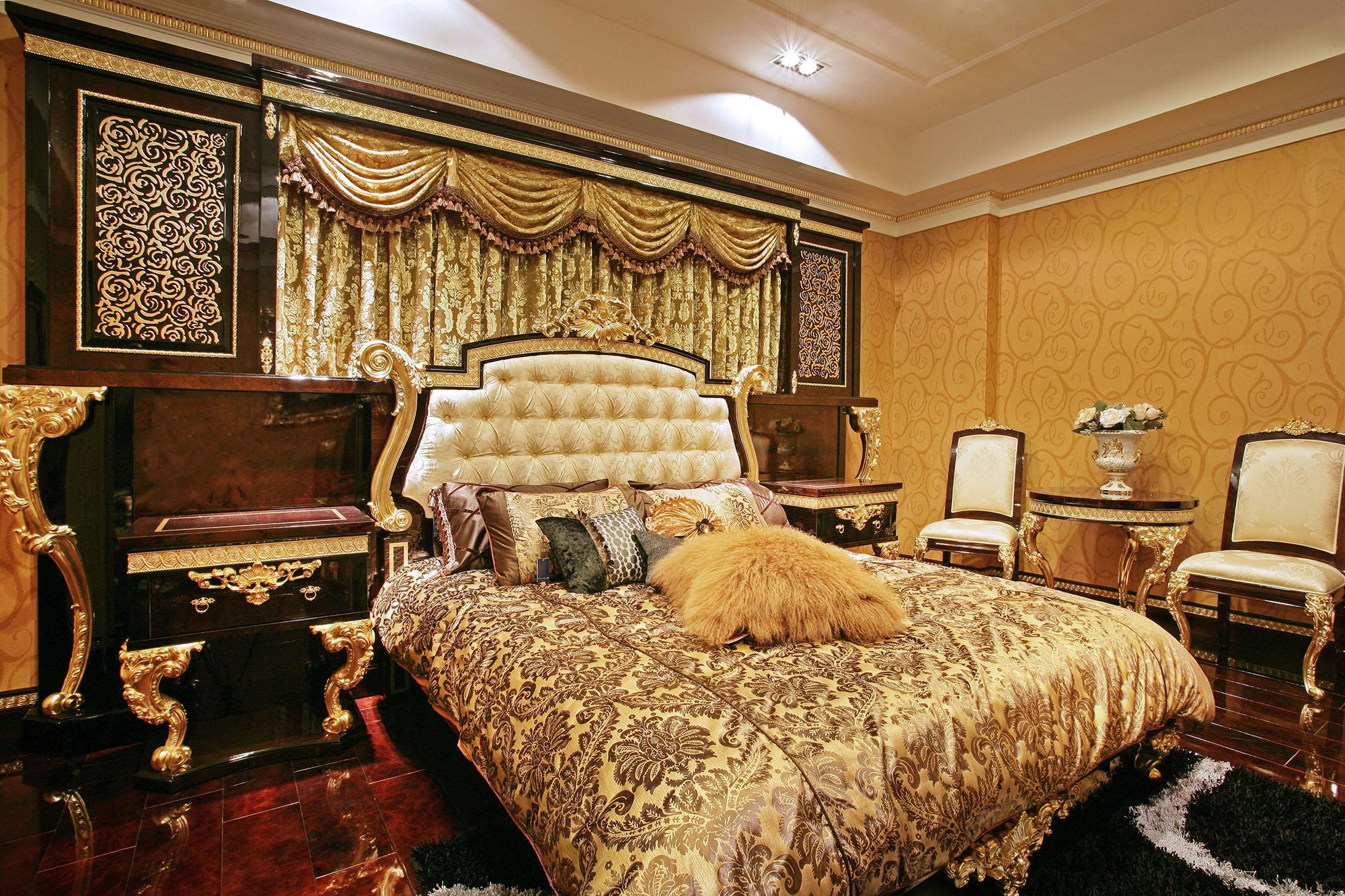 奢华欧式风格别墅卧室装修效果图