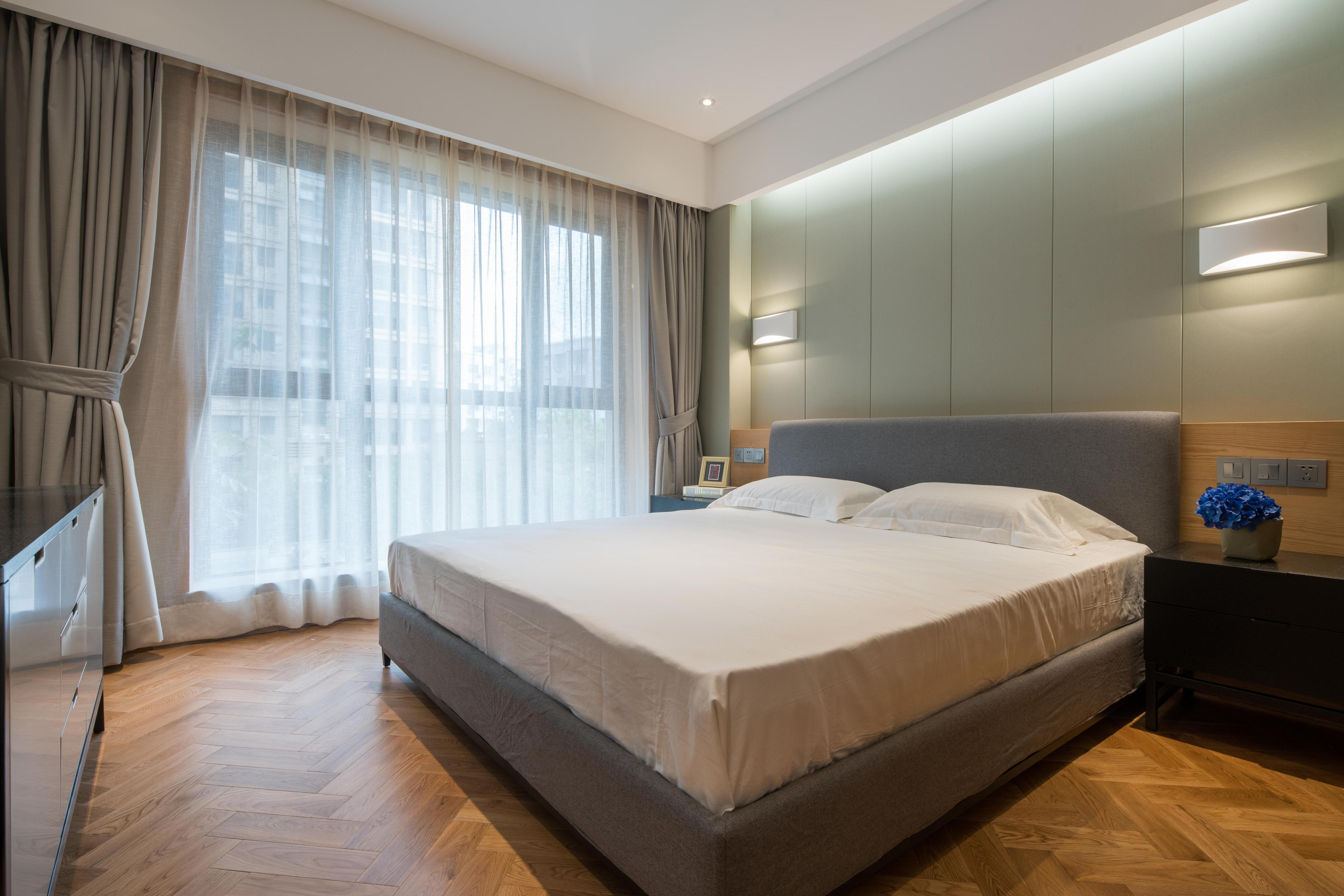 140㎡现代中式卧室装修效果图