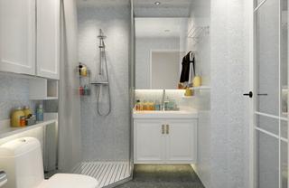 70㎡现代简约两居卫生间装修效果图