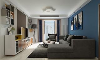 120平现代简约三居装修效果图
