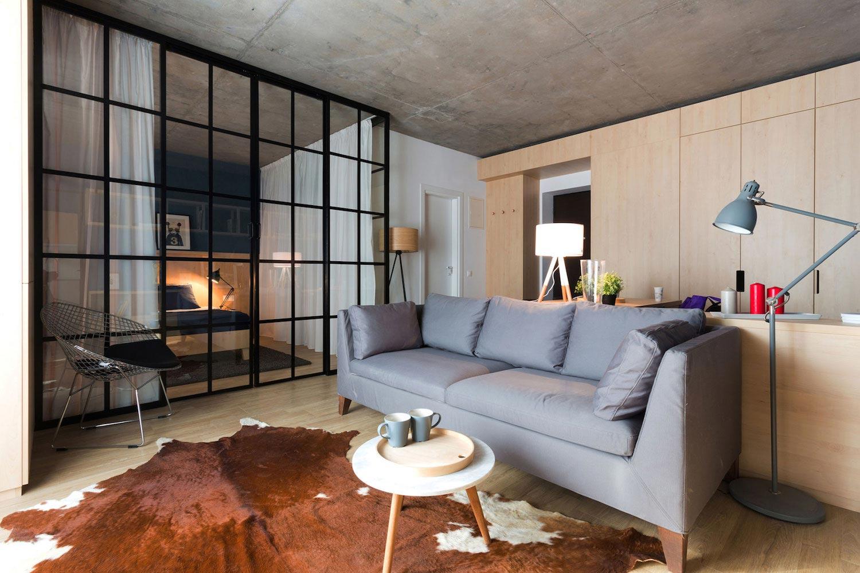 50㎡小户型公寓客厅装修效果图