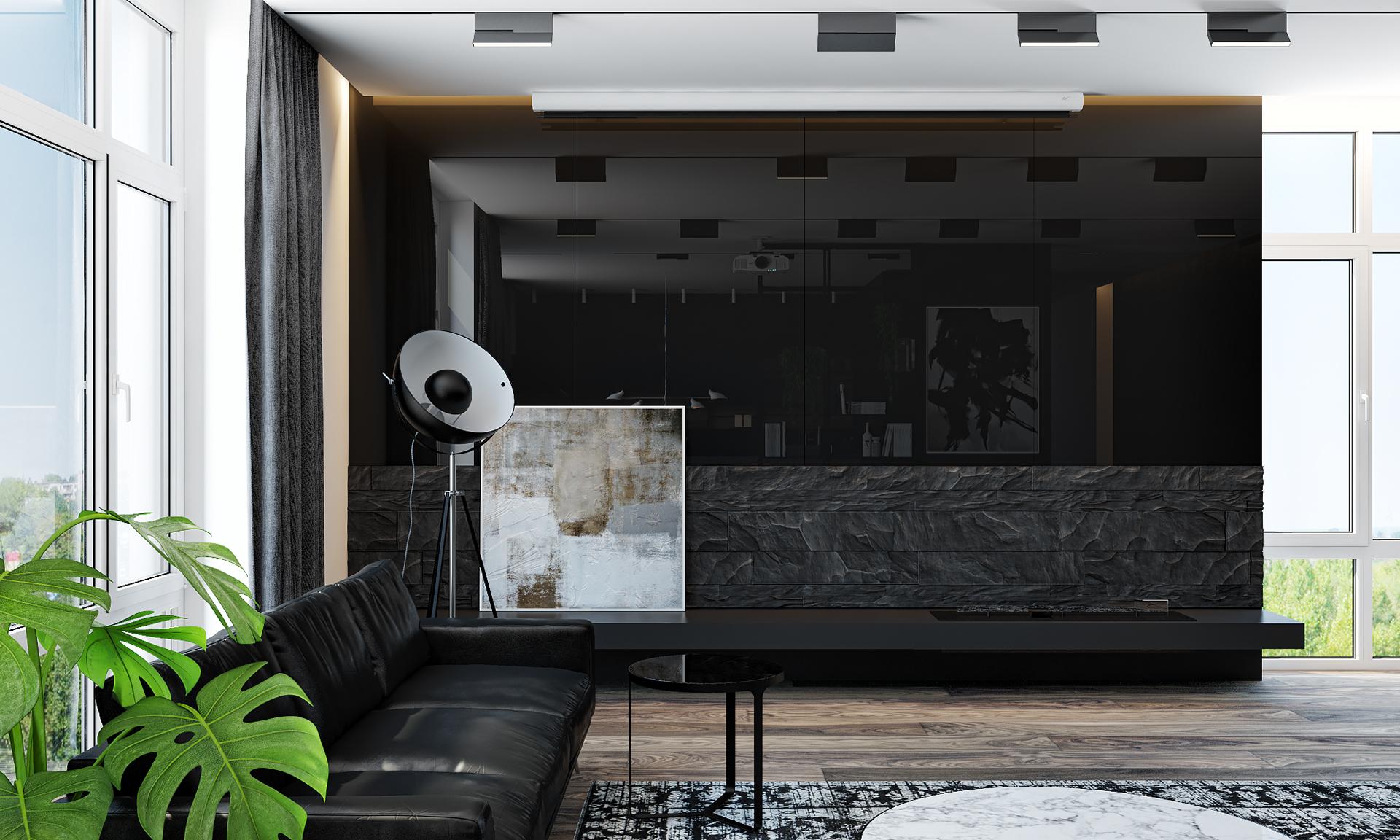 黑色系现代公寓客厅国国内清清草原免费视频