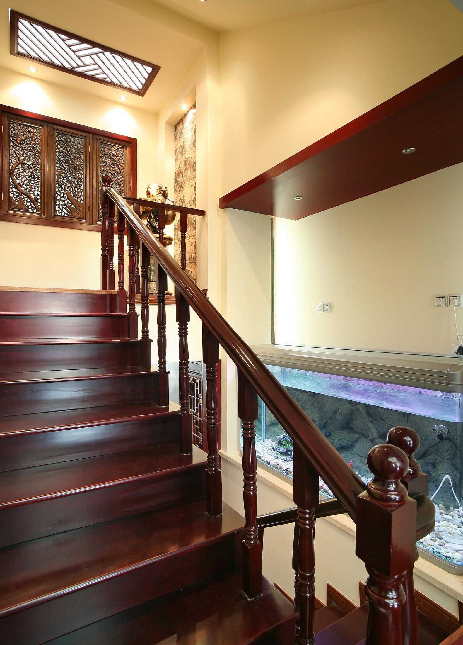 大户型中式风格楼梯装修效果图