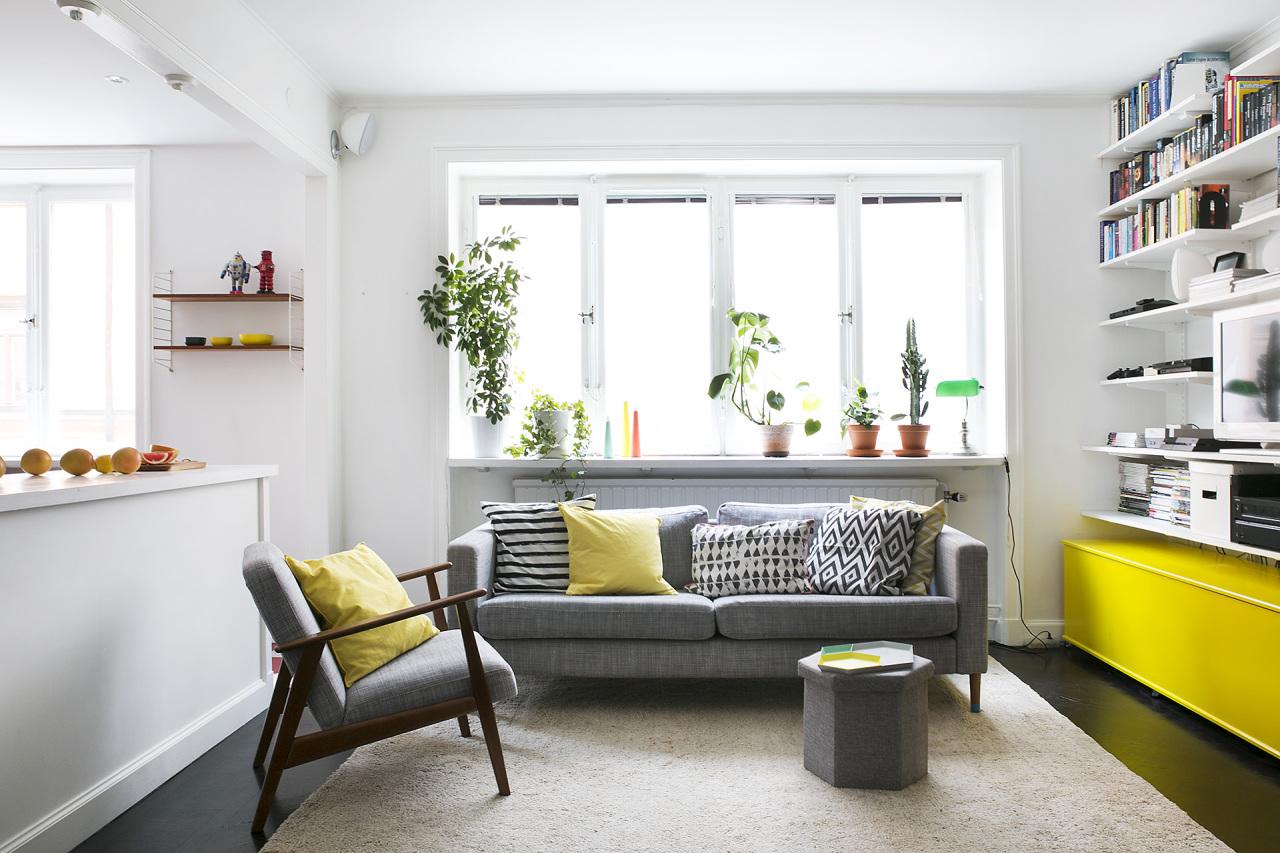 二居室小户型公寓客厅装修效果图