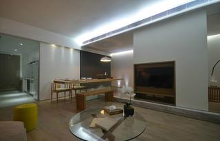 二居室简约日式风格客餐厅装修效果图