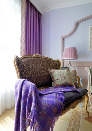 三居室混搭风格装修沙发设计图