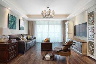 三居室经典美式风格装修效果图