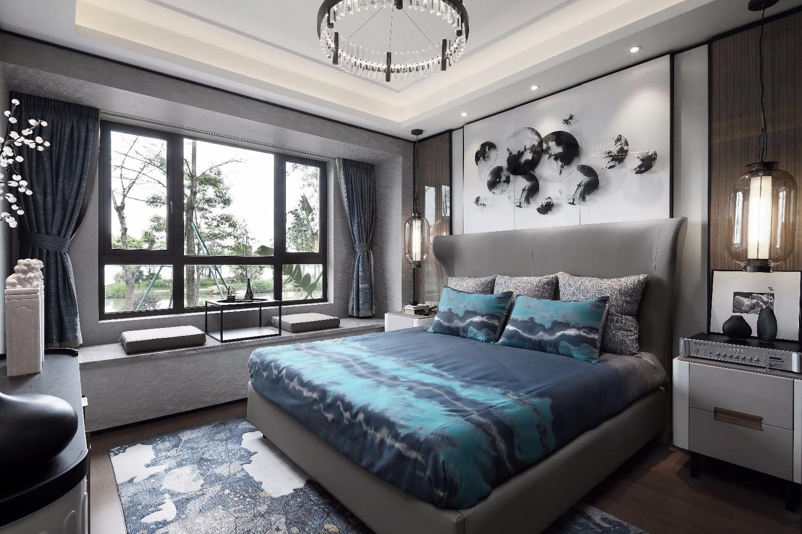 140平米新中式卧室装修效果图