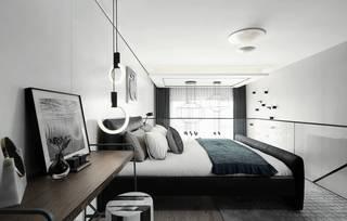 78㎡现代简约LOFT卧室装修效果图