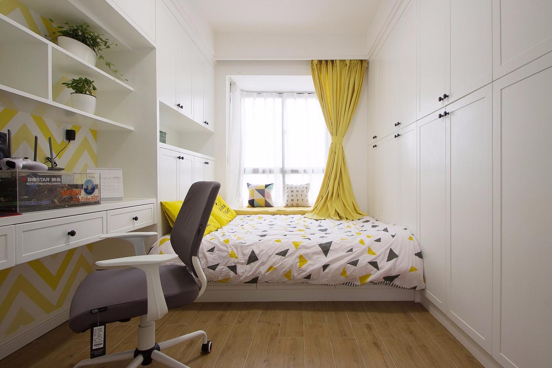 107㎡北欧风格榻榻米卧室装修效果图