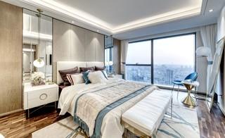 时尚轻奢样板房卧室装修效果图