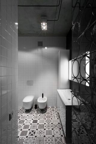 80㎡工业风公寓卫生间装修效果图