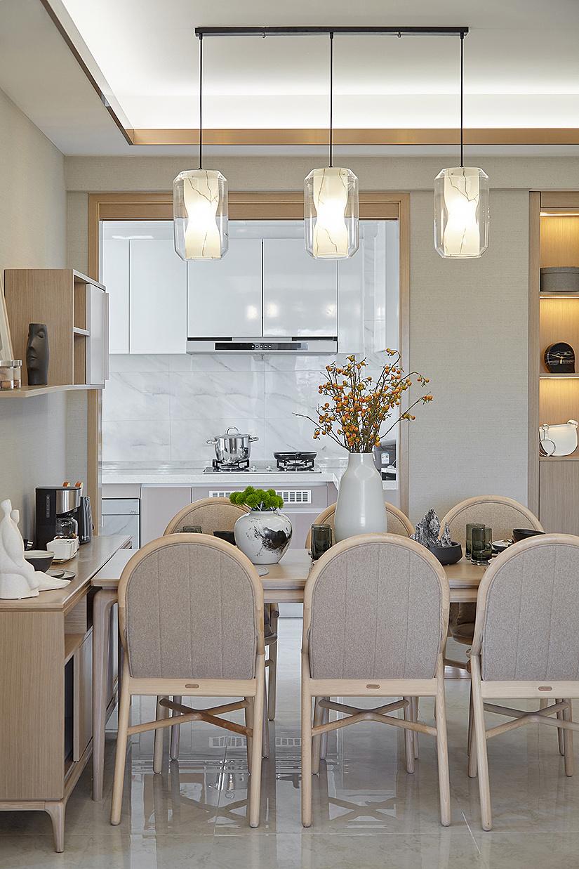 简约现代四居室餐厅装修效果图