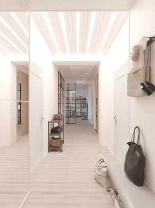 120平米三居室玄关装修效果图