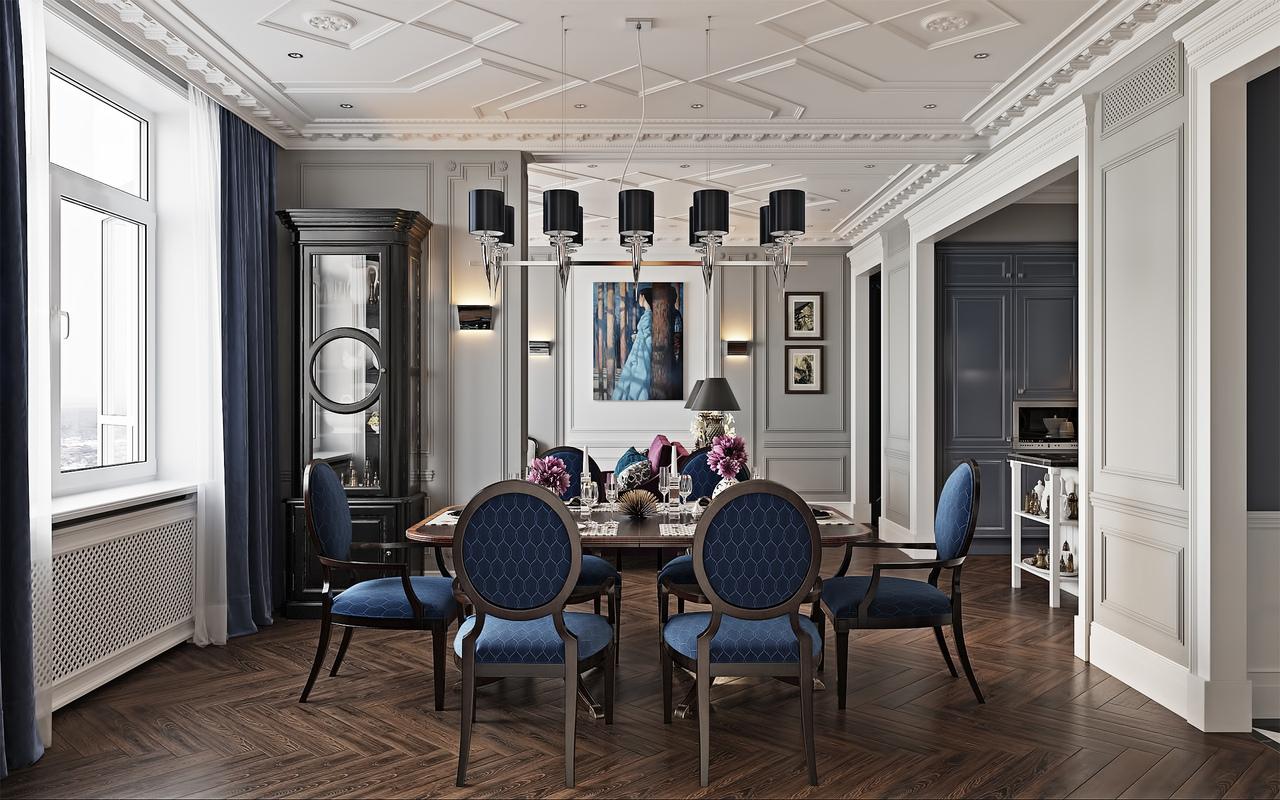 法式新古典风格餐厅装修效果图