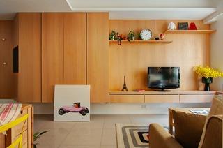 66平小户型公寓电视背景墙装修效果图