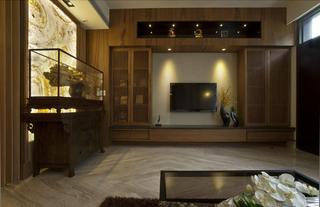 大户型中式风格电视背景墙装修效果图