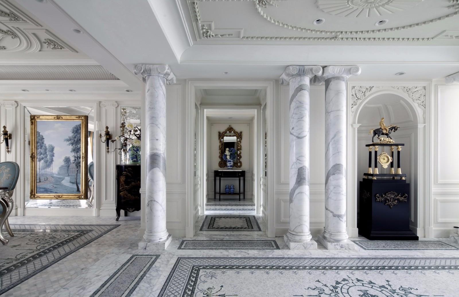 法式古典别墅过道装修效果图