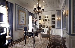 法式古典别墅书房装修效果图