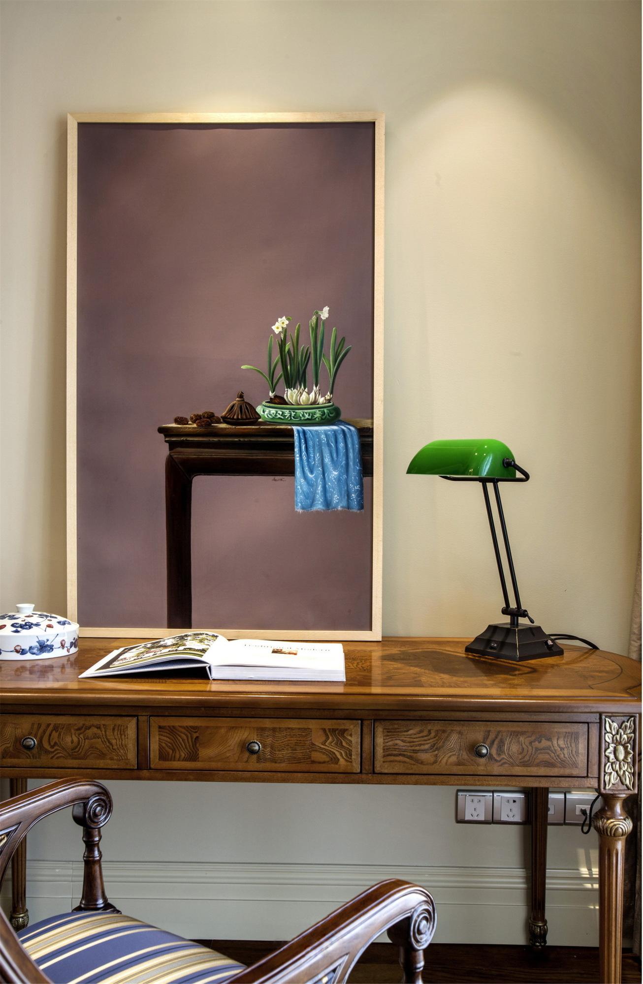 大户型美式风格装修书桌设计图