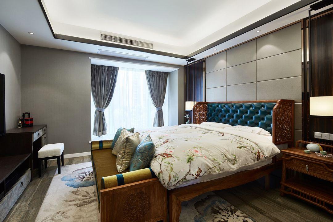 200平米中式风格卧室装修效果图
