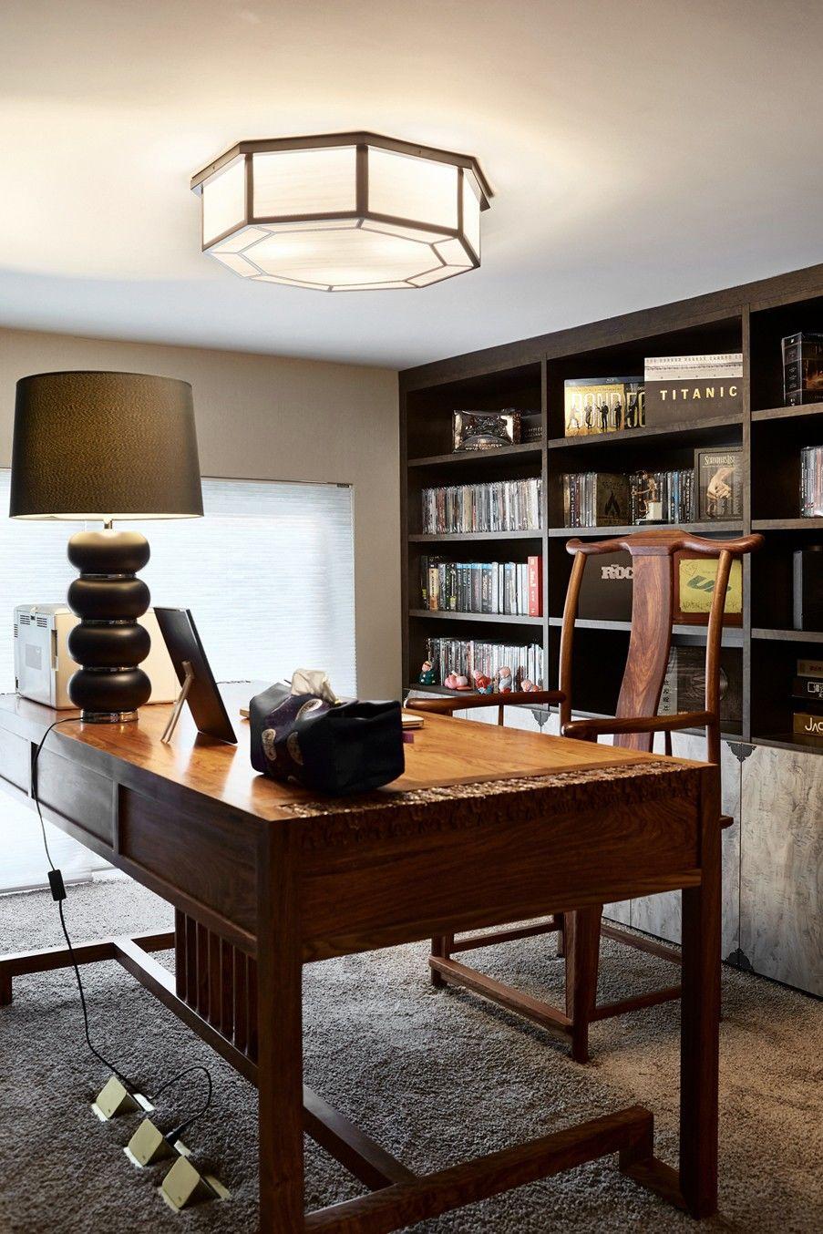 200平米中式风格书房装修效果图