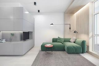 50平简约风格公寓装修效果图