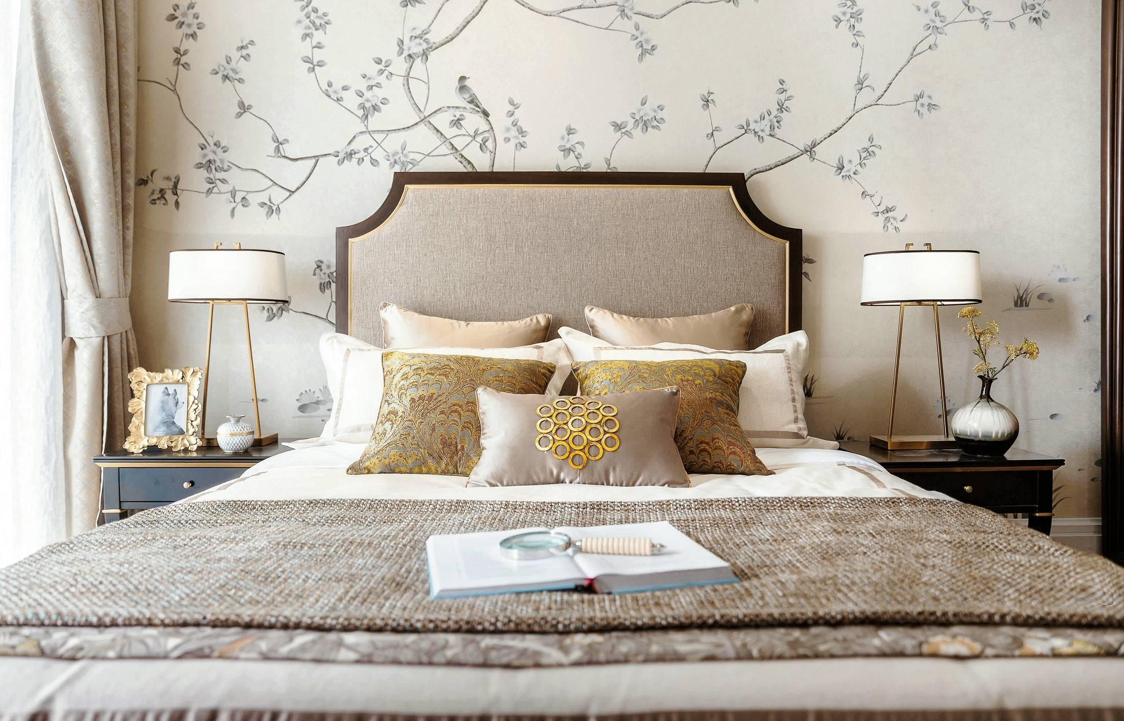 新古典混搭风格卧室装修效果图