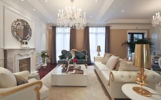 大户型简欧风格客厅装修效果图