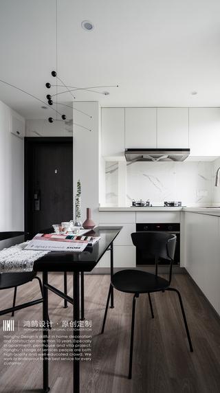 60㎡北欧风公寓厨餐厅装修效果图