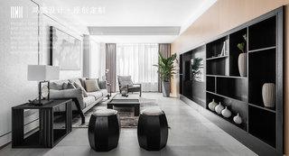 140㎡现代风格客厅装修效果图