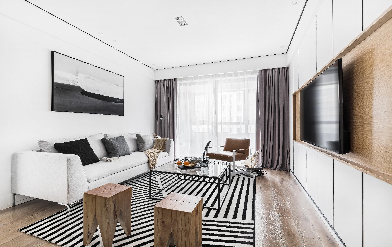 北欧现代三居室装修效果图