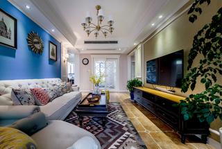 美式风三居室装修效果图