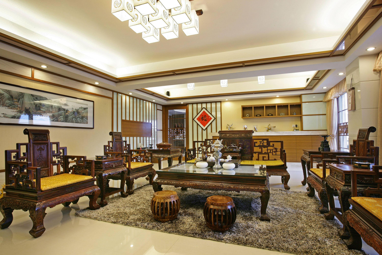 大户型中式客厅装修效果图