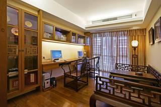 大户型中式装修书房效果图